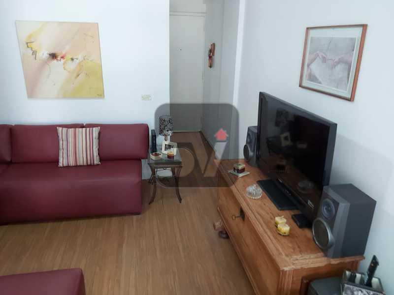 Sala - Rua nobre. Quarto e sala. 60 m². Vaga na escritura. Flamengo. Varanda - SVAP10055 - 4