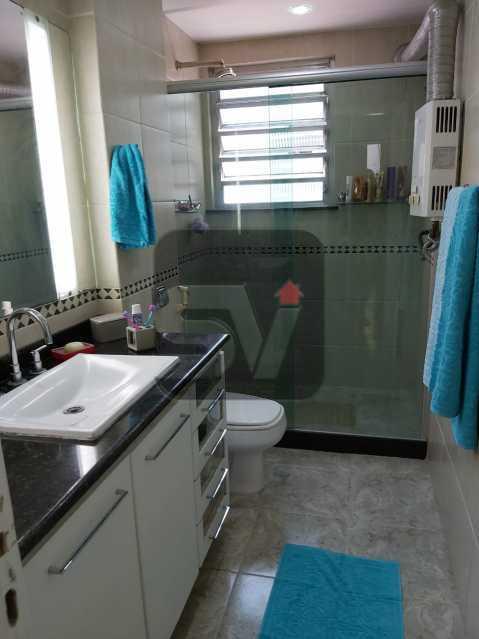 Banheiro social - Rua nobre. Quarto e sala. 60 m². Vaga na escritura. Flamengo. Varanda - SVAP10055 - 11