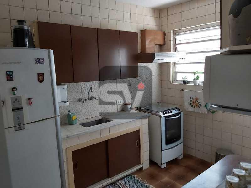 Cozinha - Rua nobre. Quarto e sala. 60 m². Vaga na escritura. Flamengo. Varanda - SVAP10055 - 13