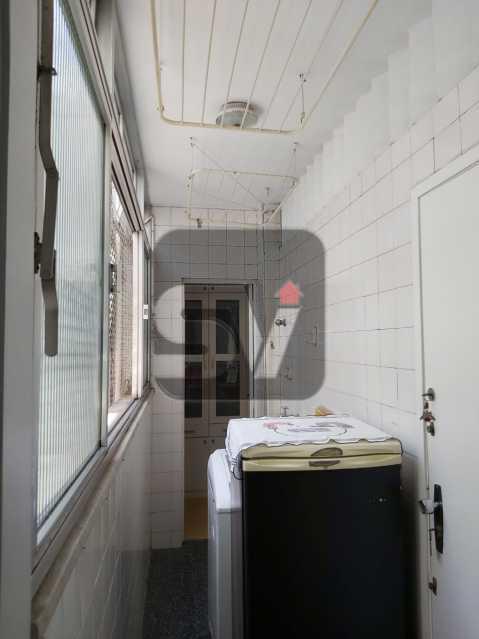 Área de serviço - Rua nobre. Quarto e sala. 60 m². Vaga na escritura. Flamengo. Varanda - SVAP10055 - 18