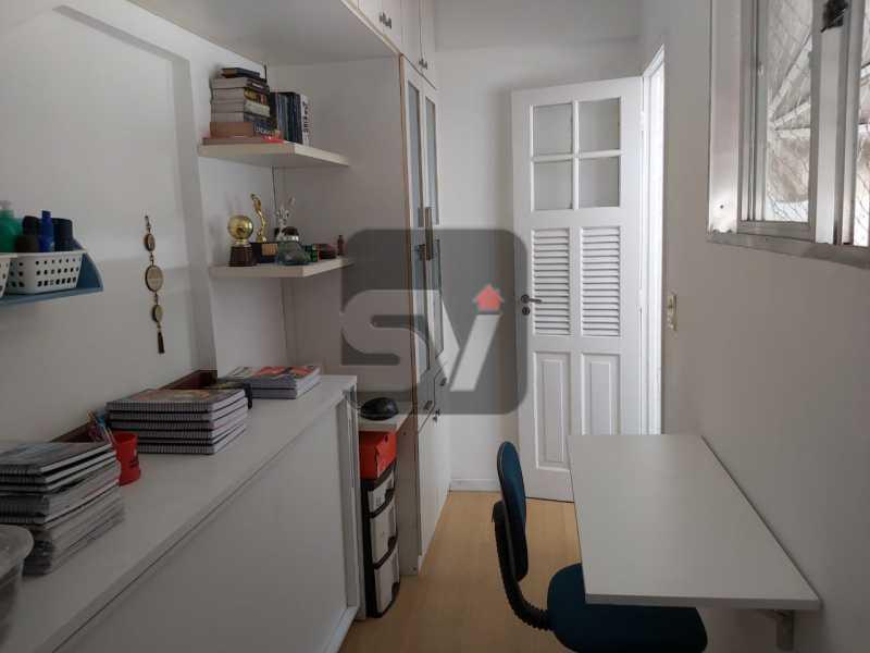 Dependência - Rua nobre. Quarto e sala. 60 m². Vaga na escritura. Flamengo. Varanda - SVAP10055 - 19