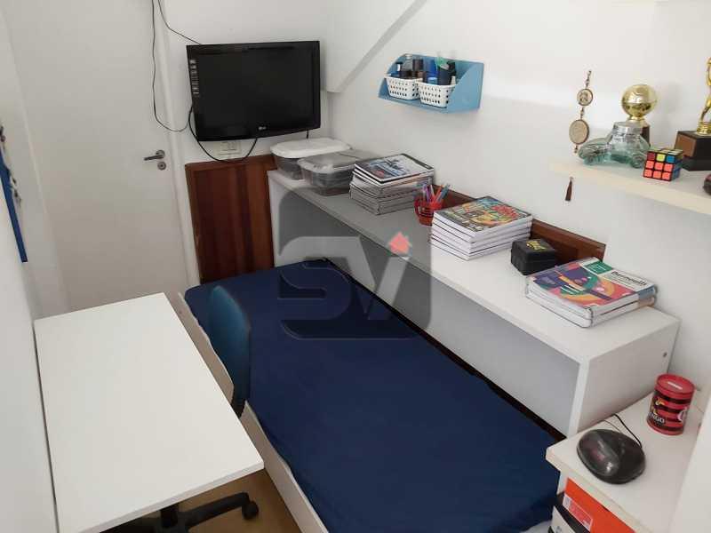 Dependência - Rua nobre. Quarto e sala. 60 m². Vaga na escritura. Flamengo. Varanda - SVAP10055 - 20