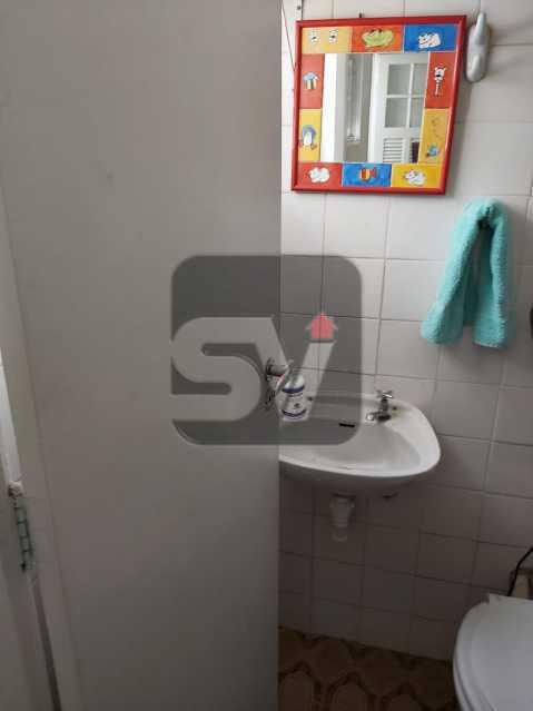 Banheiro de serviço - Rua nobre. Quarto e sala. 60 m². Vaga na escritura. Flamengo. Varanda - SVAP10055 - 21