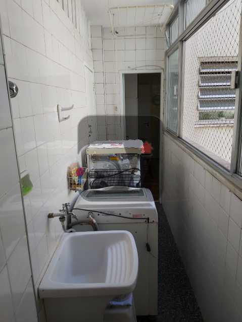 Área de serviço - Rua nobre. Quarto e sala. 60 m². Vaga na escritura. Flamengo. Varanda - SVAP10055 - 17
