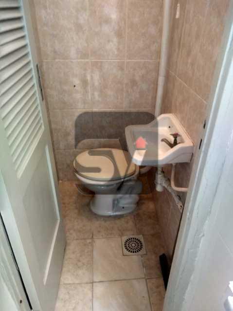 Banheiro de serviço - DOIS DORMITORIO E VAGA NA GLORIA, P´ROXIMO ATERRO, METRO E CENTRO DA CIDADE, PREÇO IMBATÍVEL - SVAP20086 - 21