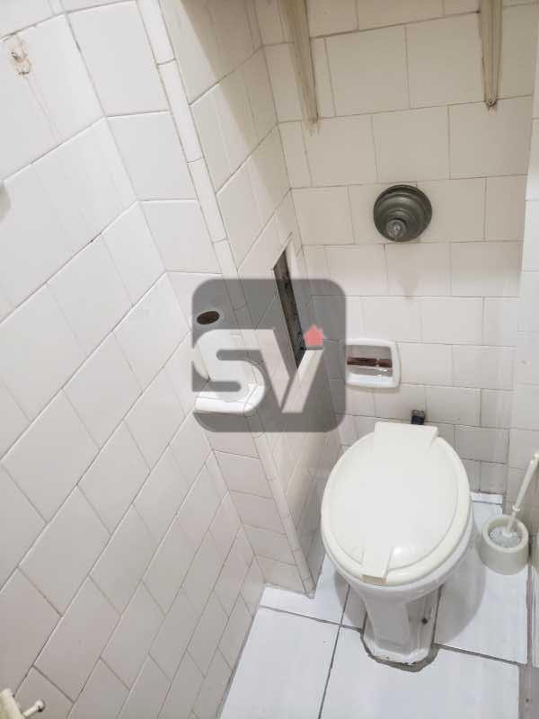 Banheiro de serviço - Catete. 3 Quartos (sendo 1 escritório). Varanda no quarto. - SVAP30061 - 19