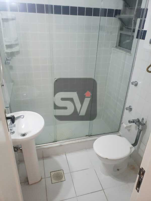 Banheiro social - Copacabana. 1 Quarto. Varanda. Reformado. - SVAP10060 - 8
