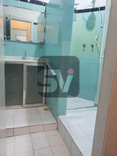 Banheiro social - Laranjeiras. 2 Quartos. Varanda. Terraço - SVAP20098 - 10