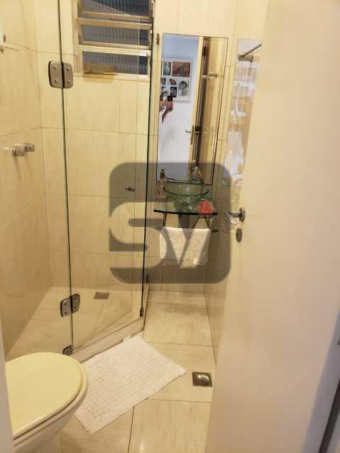 Banheiro social - Flamengo. 2 quartos (1 suíte com closet). Vaga. Andar Alto - SVAP20102 - 8