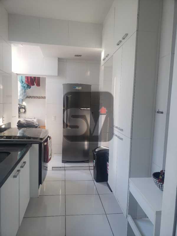Cozinha - Mobiliado. Reformado. 2 quartos. Botafogo. Vista. Varanda. - SVAP20108 - 19