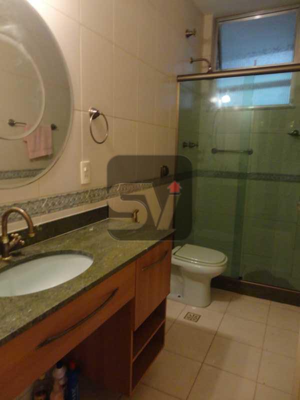 Banheiro Social - No coração do Flamengo. Maravilhoso. Reformado. Claro. 2 quartos(1 suíte e 1 closet) - VIAP20175 - 7