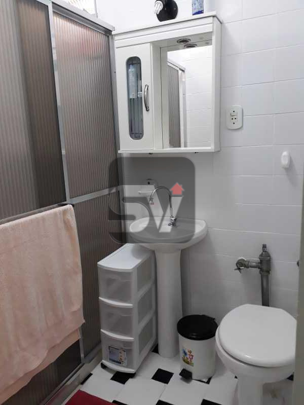 Banheiro Social - Mobiliado. Silencioso. Arejado. Catete. 2 quartos - VIAP20244 - 9