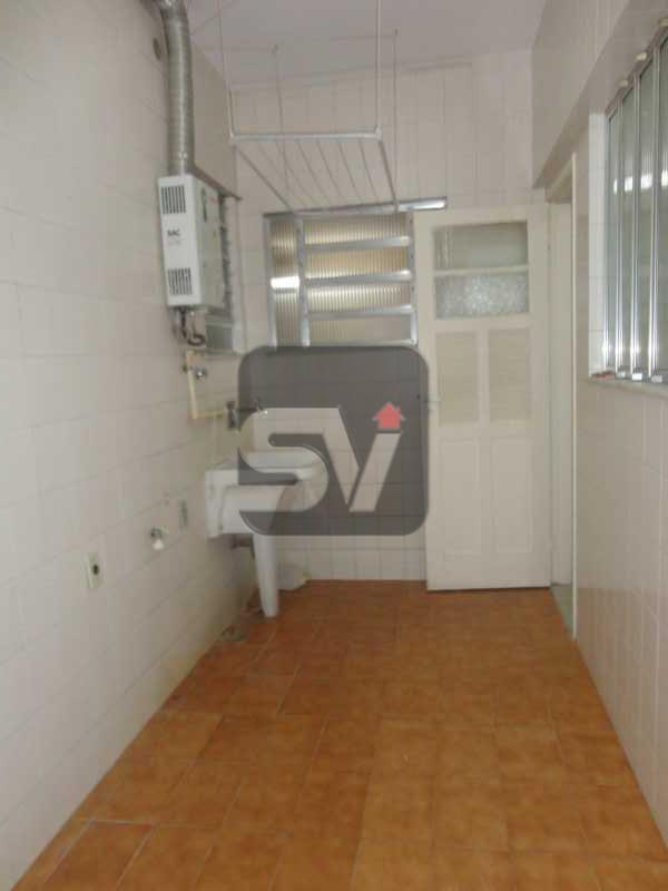 Área de serviço - Amplo. Claro. Ponto nobre do Flamengo. Elétrica nova. 3 quartos (1 suíte com varanda) - VIAP30249 - 19