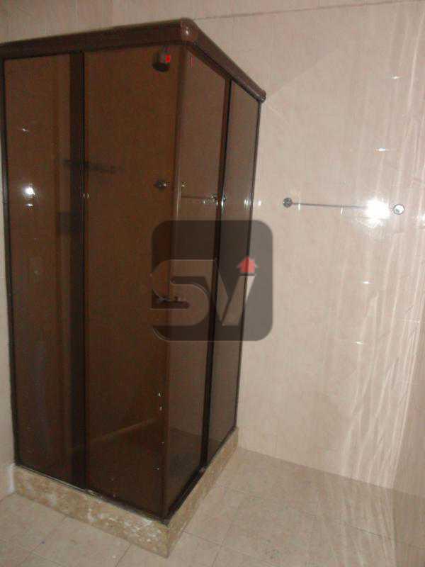 Banheiro social - Apartamento Rio de Janeiro,zona sul,Flamengo,RJ Para Alugar,3 Quartos,110m² - VIAP30253 - 7