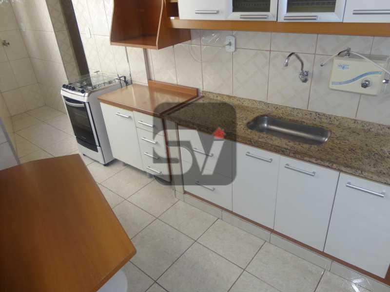 Cozinha - 2 quartos. Silencioso. Ponto nobre. Vaga Marcada. Flamengo. - VIAP20026 - 12