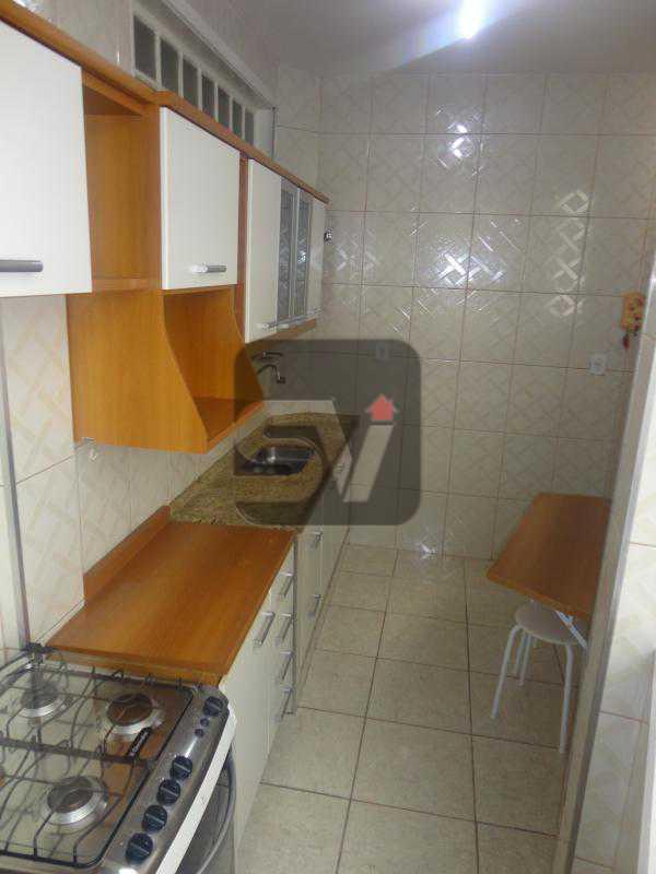 Cozinha - 2 quartos. Silencioso. Ponto nobre. Vaga Marcada. Flamengo. - VIAP20026 - 14