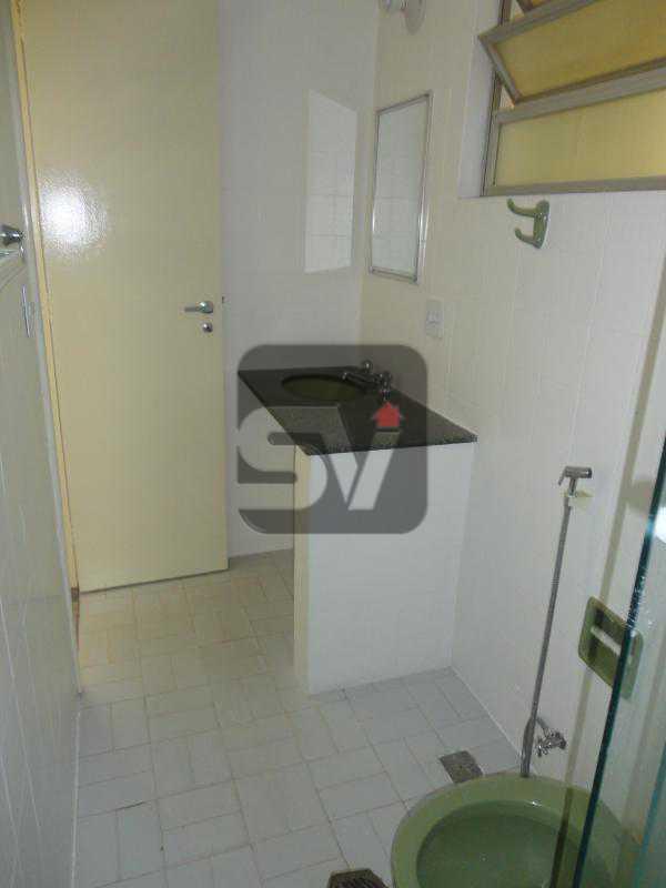 Banheiro Social - Isento de IPTU. Varanda. 2 por andar. Ponto Nobre. Flamengo. 3 Quartos - SVAP30001 - 6