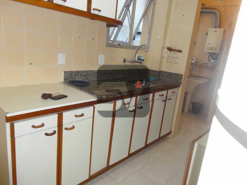 Cozinha - 2 vagas Botafogo Reformado. 2 Quartos. Varanda - SVAP20001 - 12