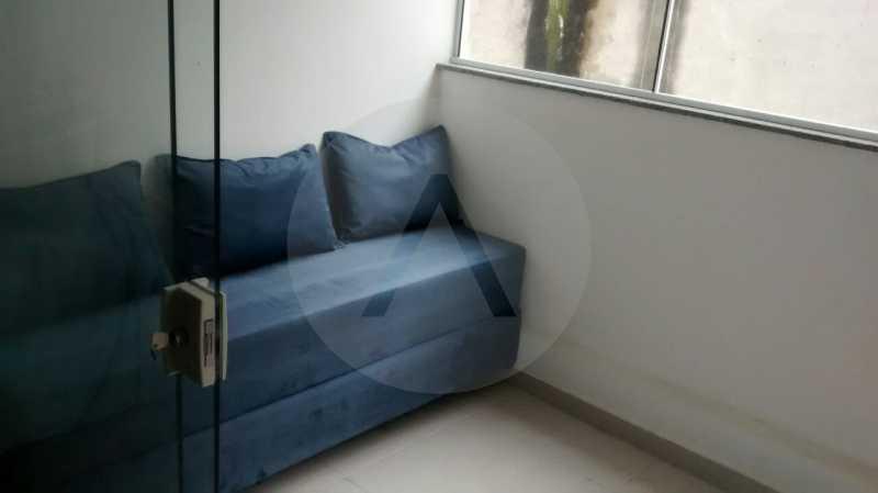 8 Flat Itaipu. - Imobiliária Agatê Imóveis vende Flat de 35 m² Itaipu - Niterói por 225 mil reais. - HTFL10002 - 9