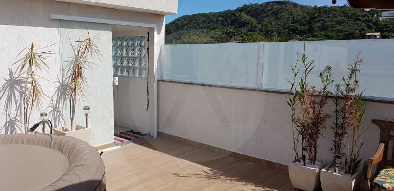 24 Casa Padrão Itaipu - Imobiliária Agatê Imóveis vende Casa Padrão Porteira Fechada de 153 m² por 900 mil reais Itaipu - Niterói. - HTCA40086 - 26