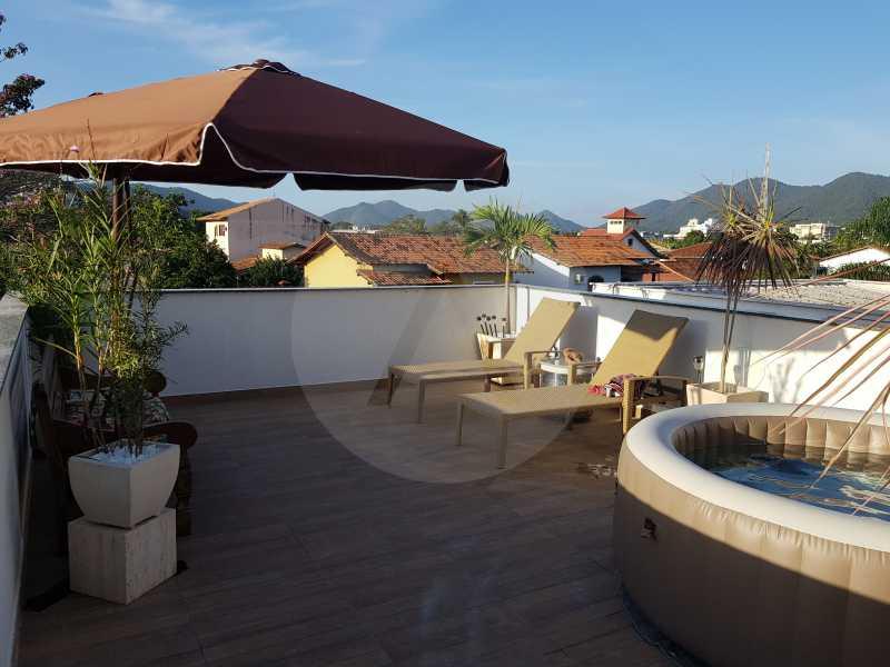 Casa Padrão Itaipu - Imobiliária Agatê Imóveis vende Casa Padrão Porteira Fechada de 153 m² por 900 mil reais Itaipu - Niterói. - HTCA40086 - 1