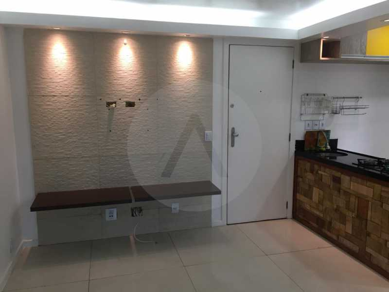 2- Flat Itaipu. - Imobiliária Agatê Imóveis vende Flat de 62m² Itaipu - Niterói por 300 mil reais. - HTFL10010 - 1