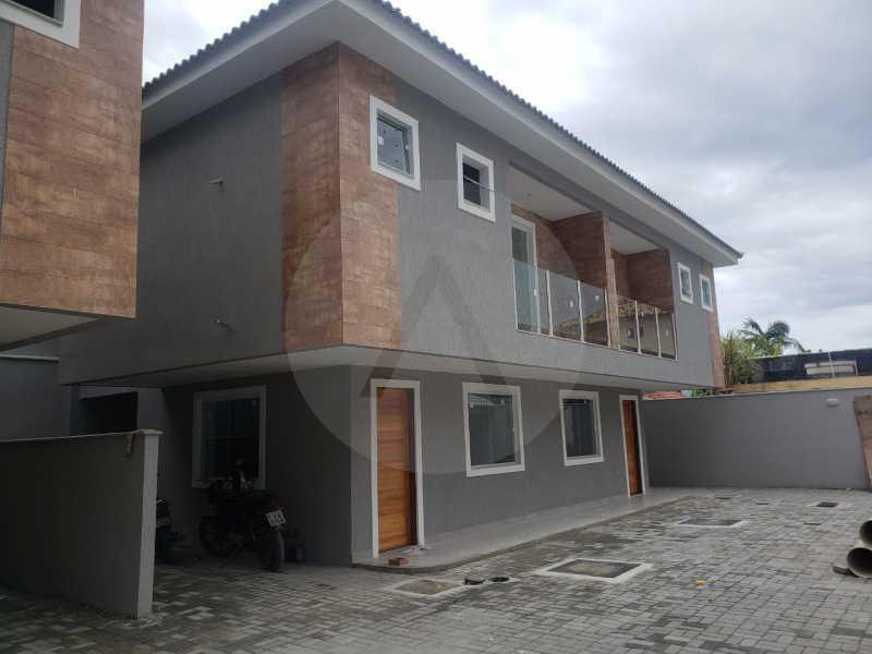 3 Casa Condominio Piratininga - Imobiliária Agatê Imóveis vende Lançamento de Casas em Condomínio de 117 m² Piratininga - Niterói por 580 mil reais. - HTCN30085 - 4