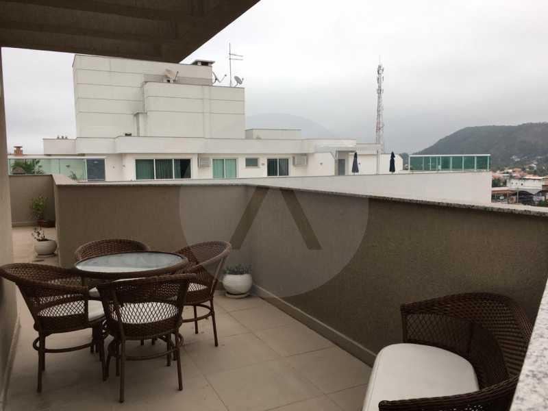 10-Cobertura Linear Itaipu. - Imobiliária Agatê Imóveis vende Cobertura Linear de 106 m² Itaipu - Niterói por 700 mil reais - HTCO20007 - 11