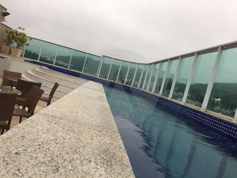 26-Cobertura Linear Itaipu. - Imobiliária Agatê Imóveis vende Cobertura Linear de 106 m² Itaipu - Niterói por 700 mil reais - HTCO20007 - 27