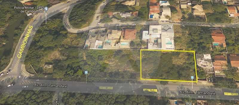 1 Terreno Piratininga - Imobiliária Agatê Imóveis vende Terreno Aclive, 1.350m² por R 750.000 - Piratininga - Niterói/RJ. - HTMF00002 - 1