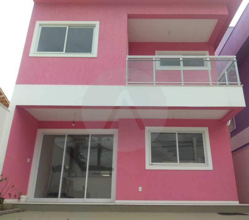 1 Casa Duplex Itaipu - Imobiliária Agatê Imóveis vende Casa Duplex de 168m² Itaipu - Niterói por 800 mil reais. Linda - HTCA30246 - 1