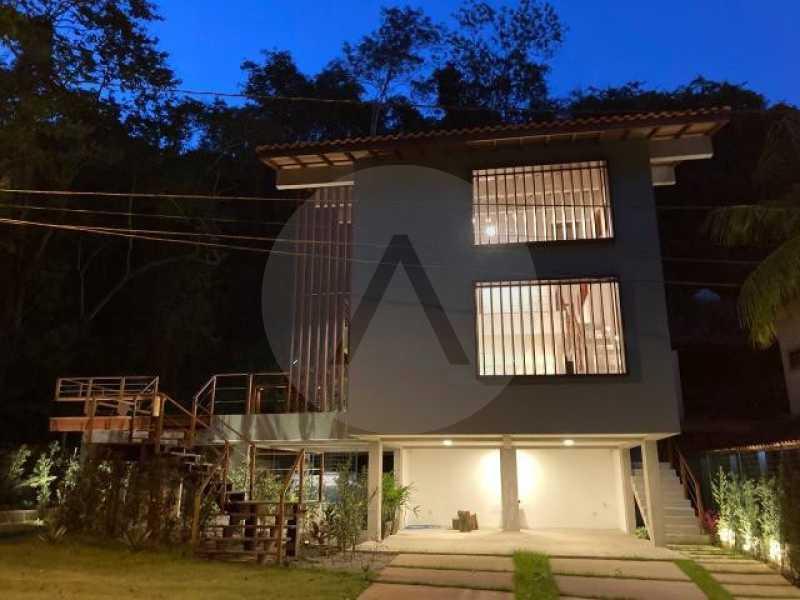 casa uba recanto 01 - Imobiliária Agate imóveis vende belíssima casa em condominio de luxo Itaipu - Niteró - HTCN30110 - 1