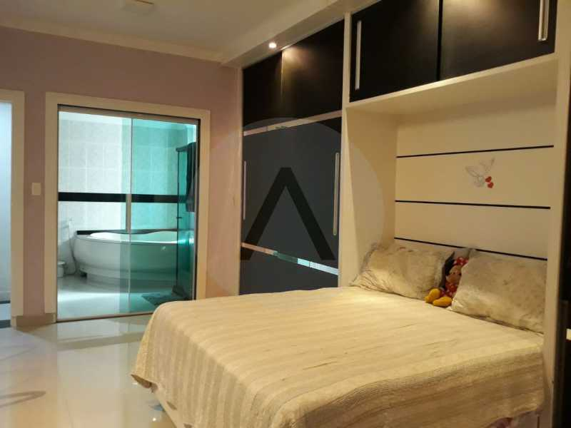 14 Casa Condomínio Itaipu. - Imobiliária Agate Imóveis vende belíssima casa em condomínio em Itaipu - Niterói. - HTCN30111 - 15