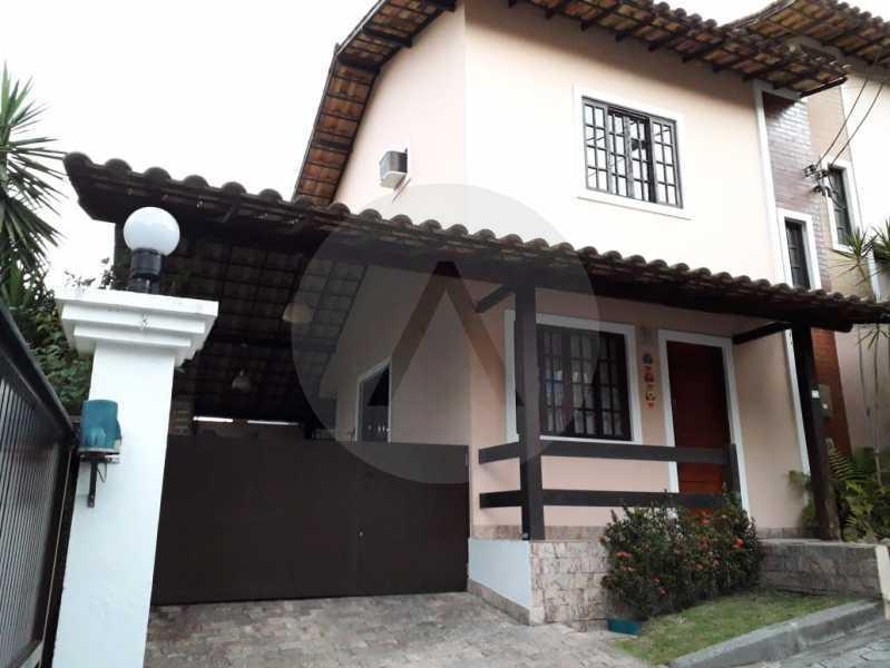 1 Casa Condomínio. - Imobiliária Agatê Imóveis vende Casa em Condomínio - Várzea das Moças - Niterói. - HTCN20053 - 1