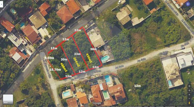 Terreno Plano Itaipu  - Imobiliária Agatê Imóveis vende 3 Lotes Planos juntos 1.302m² - Itaipu - Niterói/RJ. - HTMF00004 - 1