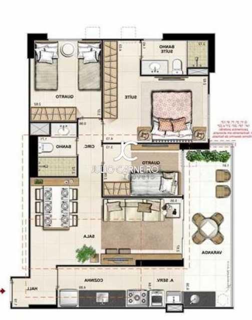 planta baixa humanizada cchoic - Apartamento 3 quartos à venda Rio de Janeiro,RJ - R$ 621.000 - CGAP30006 - 31