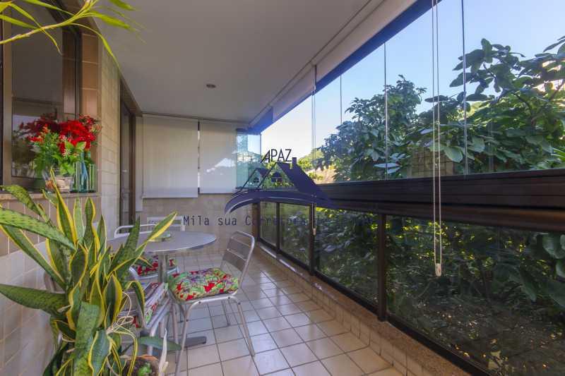 varanda ampla - Apartamento À Venda - Rio de Janeiro - RJ - Leblon - MSAP20039 - 16