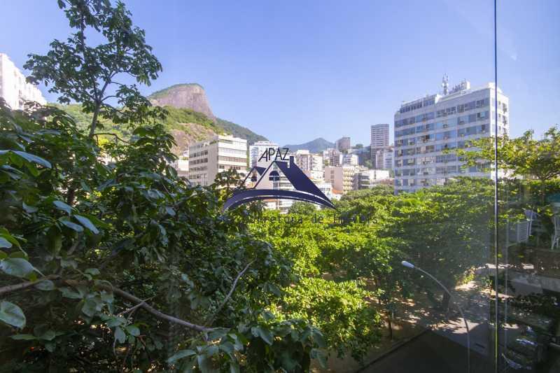 visão da varanda - Apartamento À Venda - Rio de Janeiro - RJ - Leblon - MSAP20039 - 18