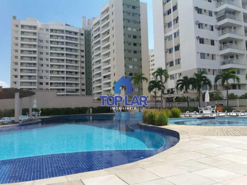 01 - Linda cobertura duplex, frente, 3 quartos - 2 planejados e 1 suíte, 3 banheiros, cozinha planejada, deck, churrasqueira, garagem e total infra. (Pátio Carioca) - HACO30003 - 1