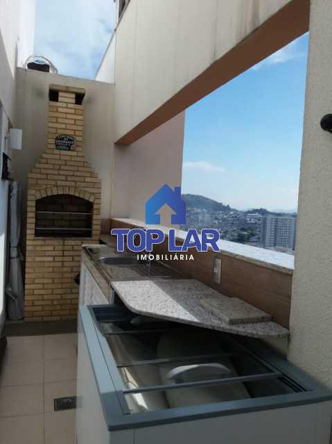 08 - Linda cobertura duplex, frente, 3 quartos - 2 planejados e 1 suíte, 3 banheiros, cozinha planejada, deck, churrasqueira, garagem e total infra. (Pátio Carioca) - HACO30003 - 8