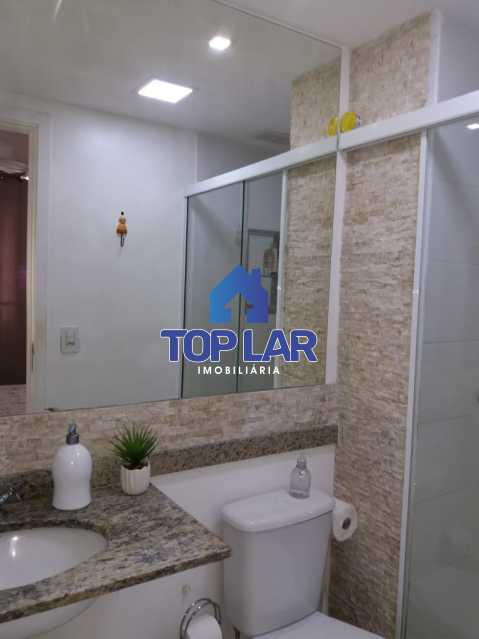 21 - Linda cobertura duplex, frente, 3 quartos - 2 planejados e 1 suíte, 3 banheiros, cozinha planejada, deck, churrasqueira, garagem e total infra. (Pátio Carioca) - HACO30003 - 22