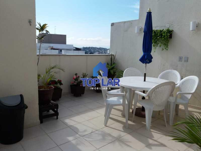 28 - Linda cobertura duplex, frente, 3 quartos - 2 planejados e 1 suíte, 3 banheiros, cozinha planejada, deck, churrasqueira, garagem e total infra. (Pátio Carioca) - HACO30003 - 29