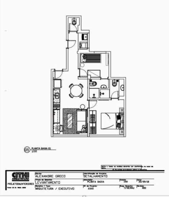 Planta - Apartamento à venda Rua Real Grandeza,Botafogo, Rio de Janeiro - R$ 599.000 - WCAP20349 - 11