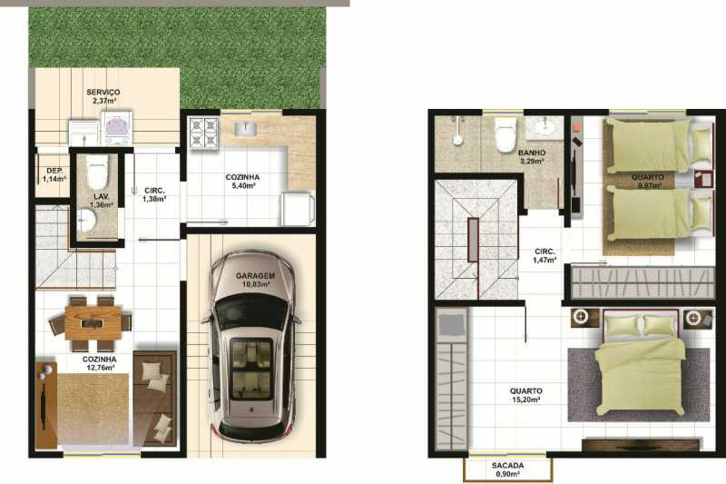 SERRA IMÓVEIS - Casa de Vila 2 quartos à venda Cidade Jardim Guapimirim, Guapimirim - R$ 170.000 - SICV20004 - 17