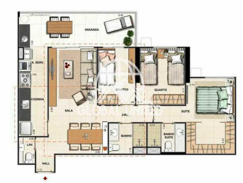 730822008657049 - Apartamento À Venda no Condomínio Choice - Barra da Tijuca - Rio de Janeiro - RJ - REAP30046 - 4