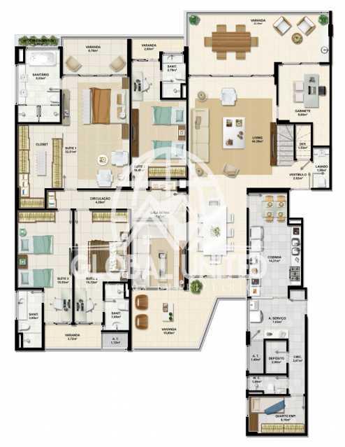 1bf26c36-59c2-4898-b09c-eb9d6c - Apartamento Condomínio La Vista, Rua Monte Conselho,Salvador, Rio Vermelho, BA À Venda, 4 Quartos, 292m² - REAP40011 - 12