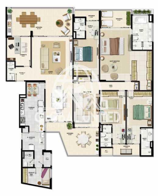 03bc459a-4100-4465-9fac-a2e368 - Apartamento Condomínio La Vista, Rua Monte Conselho,Salvador, Rio Vermelho, BA À Venda, 4 Quartos, 292m² - REAP40011 - 11