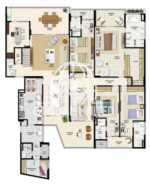 3bdb0a9c-a9a7-4c6c-8eb4-c95b39 - Apartamento Condomínio La Vista, Rua Monte Conselho,Salvador, Rio Vermelho, BA À Venda, 4 Quartos, 292m² - REAP40011 - 13
