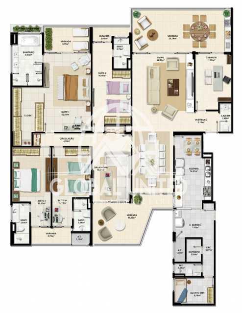 c9b11bf3-d1b9-4011-90eb-b592c3 - Apartamento Condomínio La Vista, Rua Monte Conselho,Salvador, Rio Vermelho, BA À Venda, 4 Quartos, 292m² - REAP40011 - 17