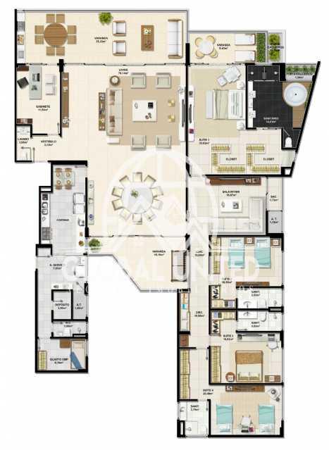 de1da21b-0ad3-4ae0-a212-ffbde5 - Apartamento Condomínio La Vista, Rua Monte Conselho,Salvador, Rio Vermelho, BA À Venda, 4 Quartos, 292m² - REAP40011 - 14